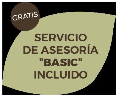 "Sello.Gratis. Servicio de asesoría ""Basic"" incluido de TERRA Food-Tech"