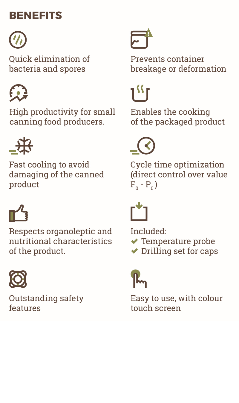 Benefits infographic of TERRA Food-Tech