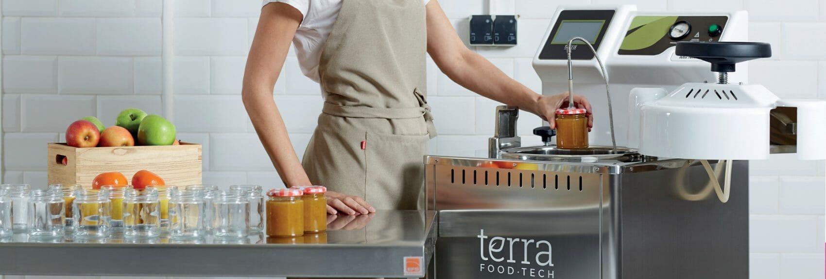 Autoclaves TERRA Food-Tech para la pasteurización y esterilización, presente en obradores compartidos.