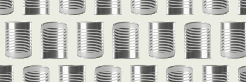 Metal containers or cans suitable for autoclaving