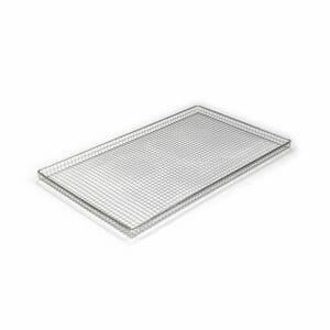 Bandeja rectangular en varilla de acero inoxidable
