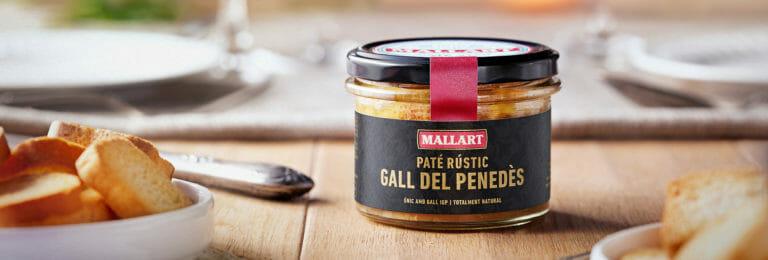 Paté rustico di gallo dal Penedès IGP prodotto da Mallart Macellai Artigianali
