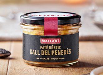 Paté rustico di gallo dal Penedés prodotto da Mallart Macellai Artigianali
